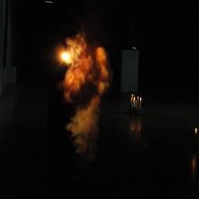 Gabriel Rossell Santillán, La fuga in Egitto, 2009, kettle, steam-image, 23' (loop).