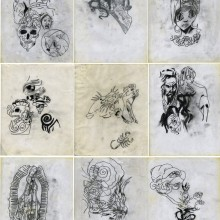 Antonio Vega Macotela, TIME EXCHANGE 98, 2008, light box, pencil on paper