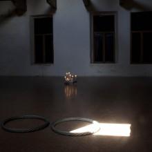 Remo Salvadori, Continuo infinito presente, 2010, steel, Ø145,  height 5 cm
