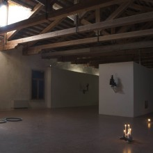 view of the exhibition (Nico Vascellari, Remo Salvadori, André  Eugene, Matthew Stone)