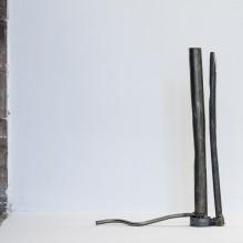 Christine Rebet, Carat Drap 2, metal tubes 26.5x37 cm.